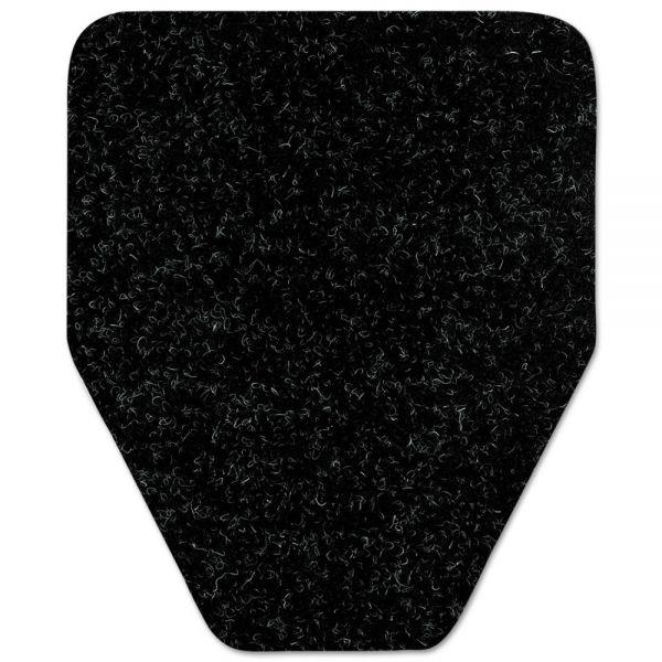WizKid Antimicrobial Floor Mat, Urinal, 17 x 20 1/2, Black, 4/Pack, 12 Packs/Carton