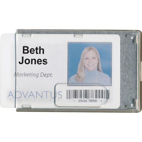 Advantus Rigid Two-Badge Blocking Smart Card Holder, 3 3/8 x 2 1/8, Clear, 20 per Pack