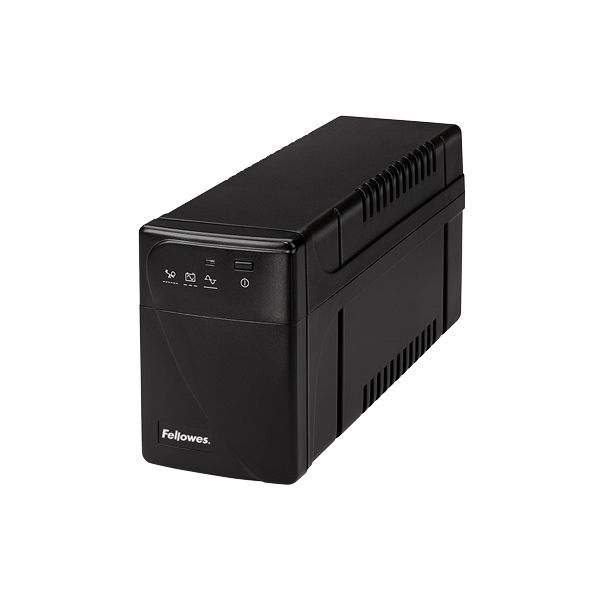 Fellowes Back-up power/surge protector. 8-11 minutes back-up power. $100,000 warranty