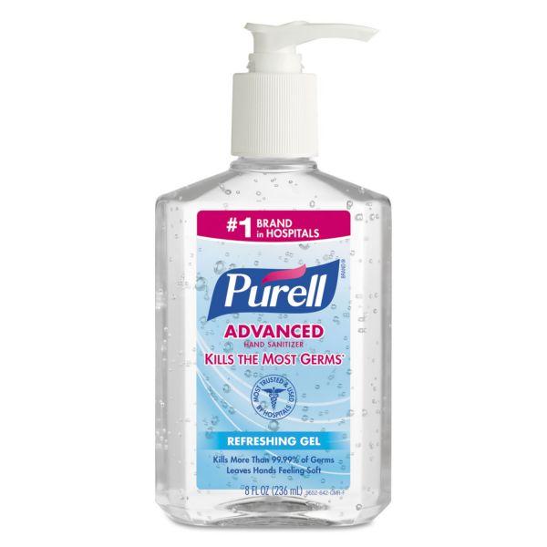 PURELL Advanced Instant Hand Sanitizer, 8oz Pump Bottle