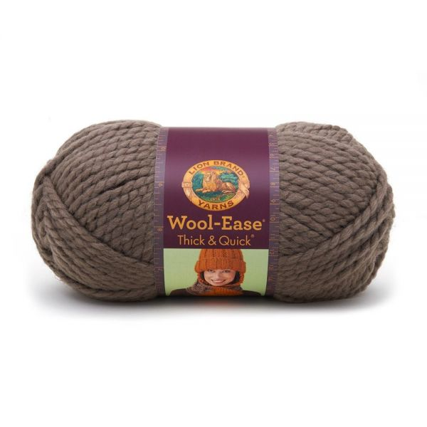 Lion Brand Wool-Ease Thick & Quick Yarn - Taupe