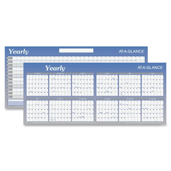 At-A-Glance Write-On/Wipe-Off Yearly Wall Calendar