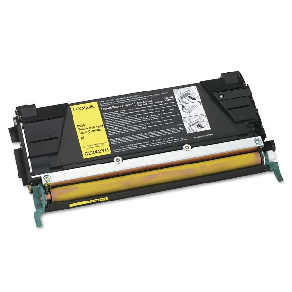 Lexmark C5242YH Yellow High Yield Toner Cartridge