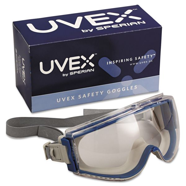 Honeywell Uvex Stealth Safety Goggles, Teal Frame, Clear Lens