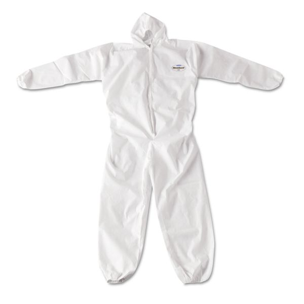 KleenGuard* A20 Breathable Particle Protection Coveralls, Zip Closure, 3X-Large, White