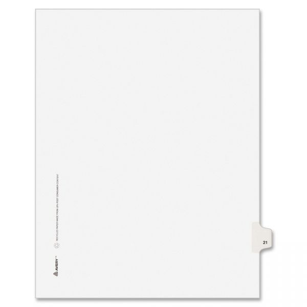 Avery Style Individual Legal Numbered Tab Dividers
