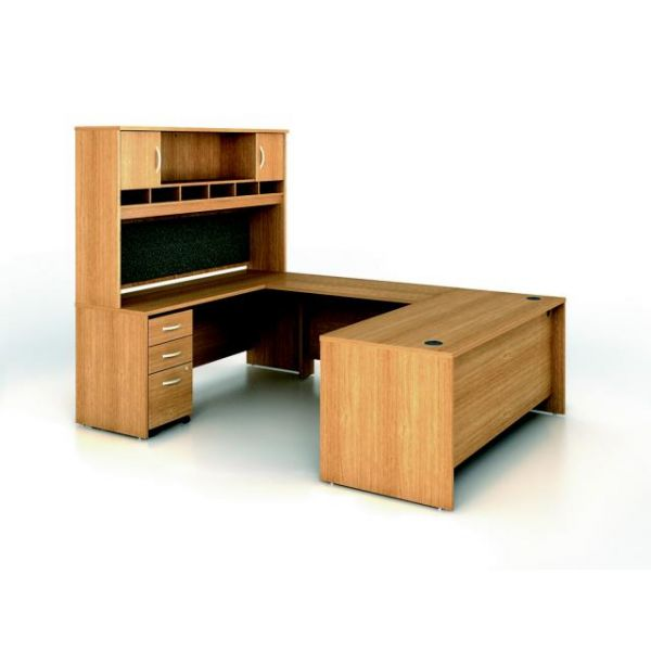 bbf Series C Executive Configuration - Light Oak fnish by Bush Furniture