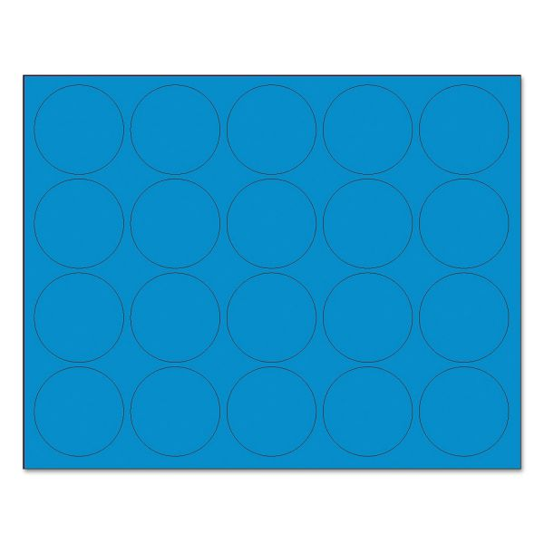 "MasterVision Interchangeable Magnetic Characters, Circles, Blue, 3/4"" Dia., 20/Pack"