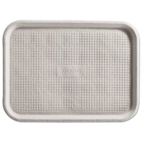 Chinet Savaday Molded Fiber Flat Food Trays