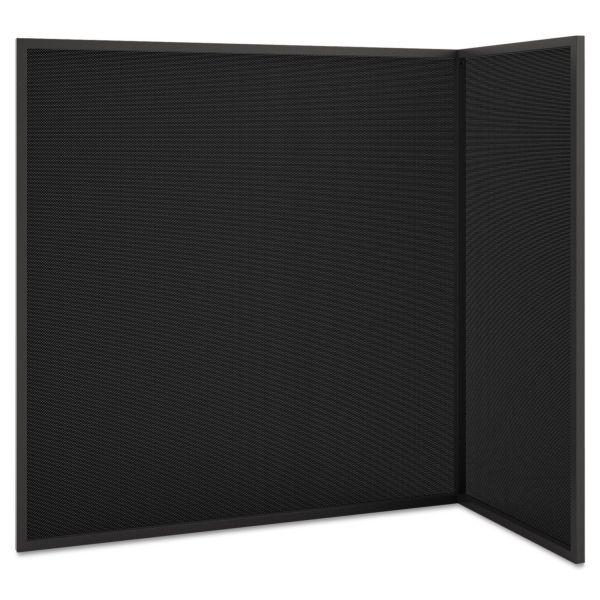 HON Manage Series Freestanding Privacy Screen, Metal/Fabric, 49 x 24-1/2 x 50, Ash