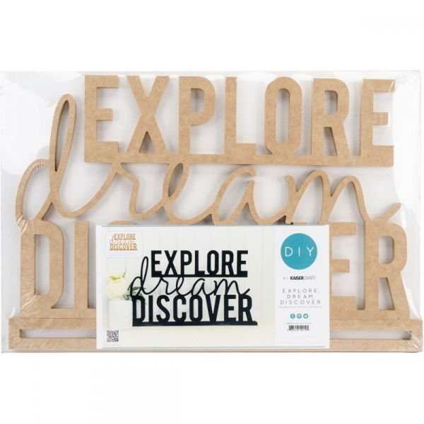 Beyond The Page MDF Explore Dream Discover Standing Words