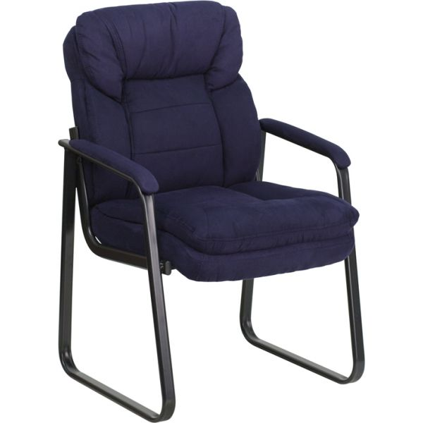 Flash Furniture Navy Microfiber Executive Side Chair