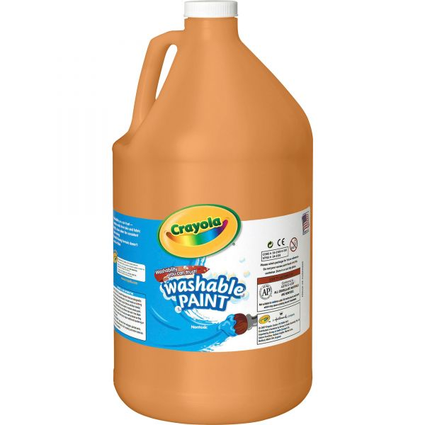 Crayola Washable Paint, Orange, 1 gal