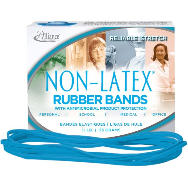 Alliance Rubber #117B Antimicrobial Latex-Free Rubber Bands (1/4 lb)