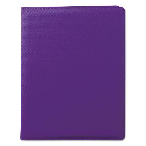 Samsill Fashion Padfolio, 8 1/2 x 11, Purple PVC