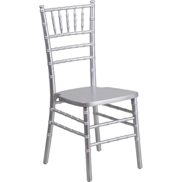 Flash Furniture Silver Wood Chiavari Chair