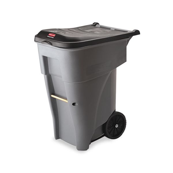 Rubbermaid Brute Multipurpose Rollout 65 Gallon Trash Can With Lid