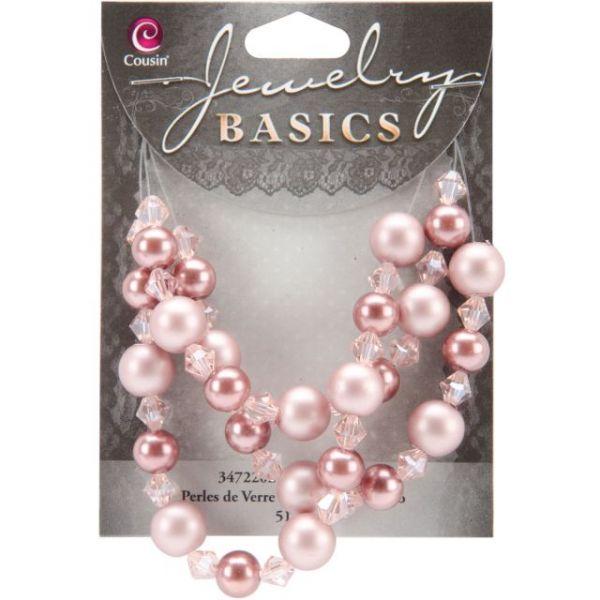 Jewelry Basics Pearl & Crystal Bead Mix 8mm & 10mm 51/Pkg