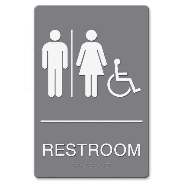 "Headline Signs Wheelchair Accessible ""Restroom"" Sign"
