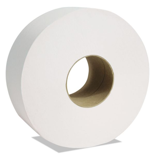 "Cascades PRO North River Jumbo Roll Tissue, 1-Ply, White, 3 1/2"" x 3500 ft, 6 Rolls/Carton"