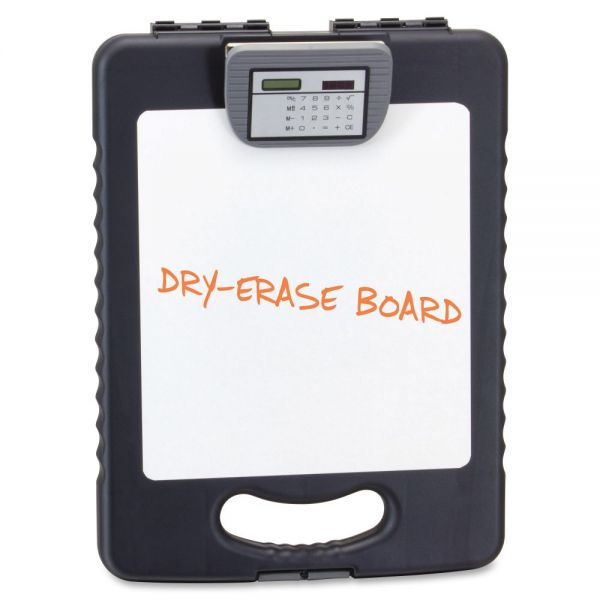 OIC Deluxe Tablet Storage Clipboard with Calculator and Dry Erase Board