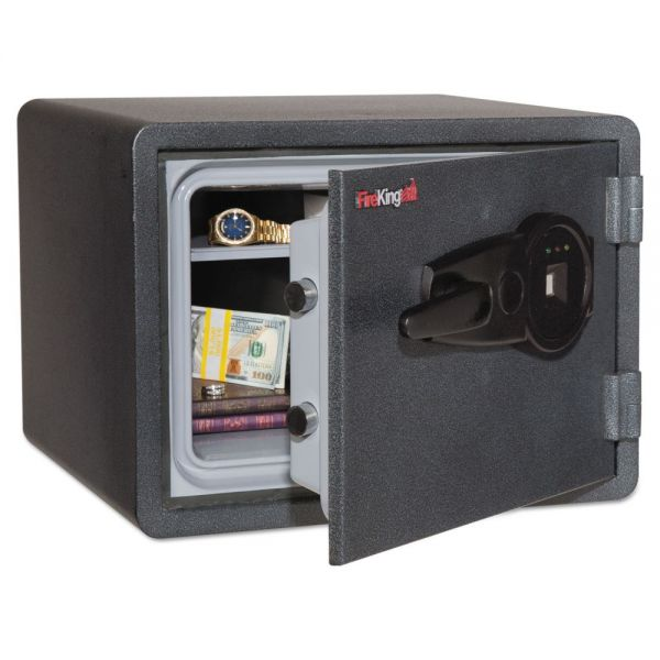 FireKing One Hour Fire and Water Safe w/Biometric Fingerprint Lock, 2.8 cu. ft, Graphite