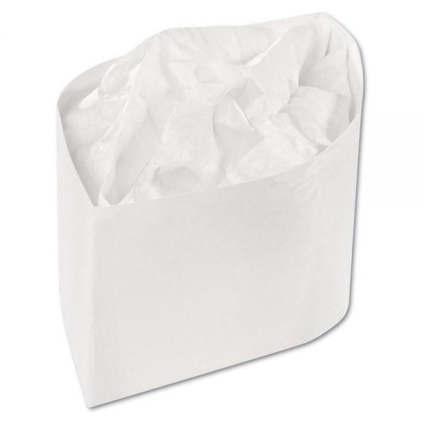 Royal Classy Cap, Crepe Paper, White, Adjustable, One Size, 100 Caps/Pk, 10 Pks/Carton