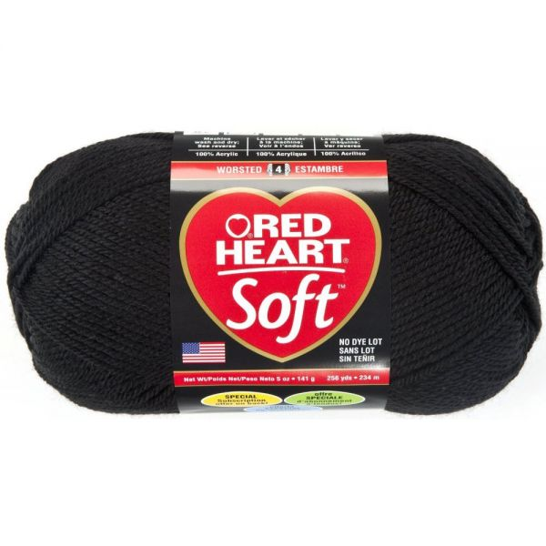Red Heart Soft Yarn - Black