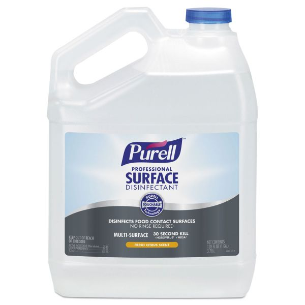 PURELL Professional Surface Disinfectant, Fresh Citrus, 1 gal Bottle, 4/Carton