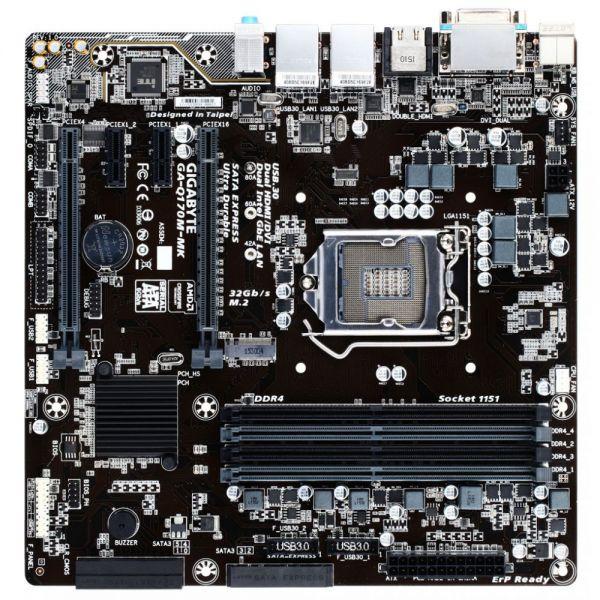 Gigabyte Ultra Durable GA-Q170M-MK Desktop Motherboard - Intel Chipset - Socket H4 LGA-1151