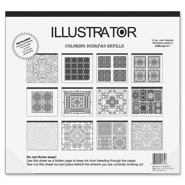 Aurora Illustrator Coloring Deskpad Refills
