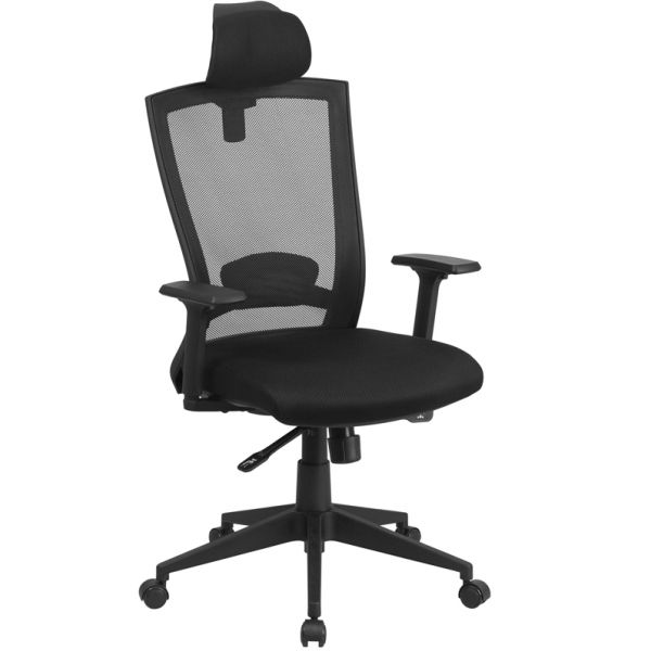Flash Furniture High Back Mesh Executive Office Chair with Back Angle Adjustment