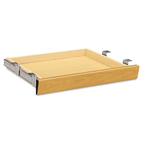 HON Laminate Angled Center Drawer, 22w x 15 3/8d x 2 1/2h, Harvest