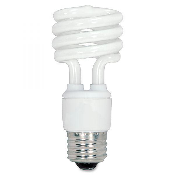 Satco 13-watt Fluorescent T2 Spiral CFL Bulb