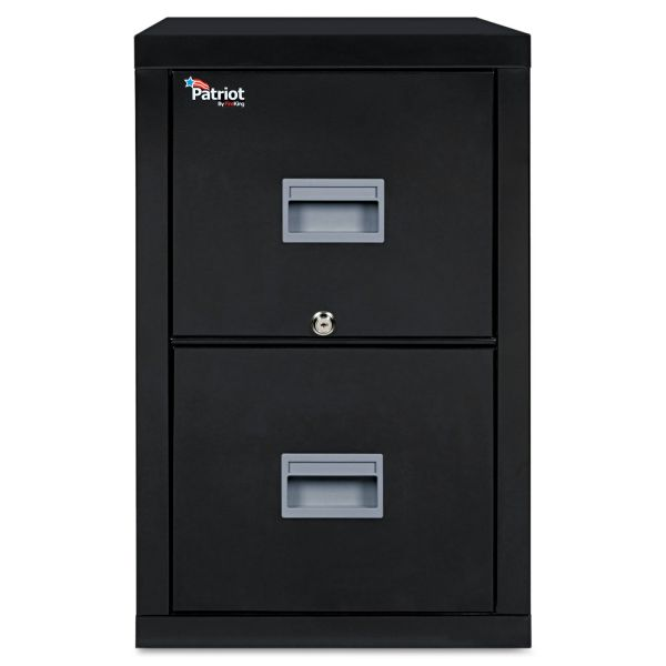 FireKing Patriot Insulated Two-Drawer Fire File, 20 3/4w x 31 5/8d x 27 3/4h, Black