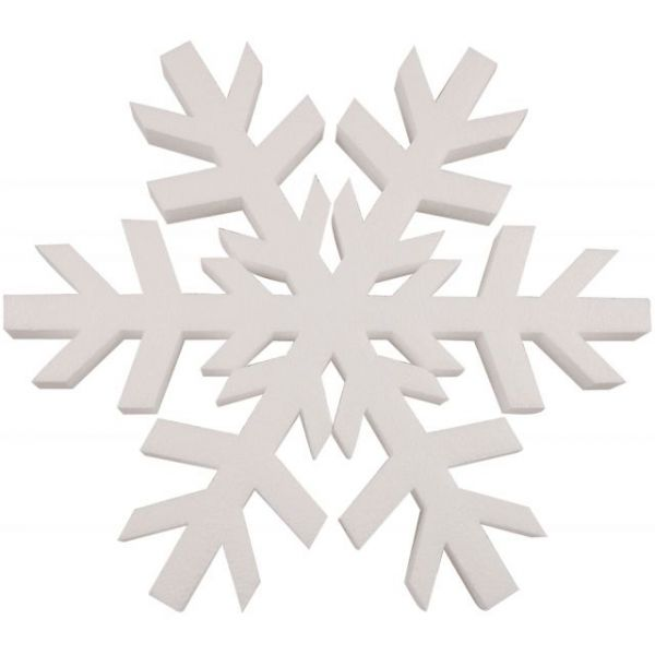 Smooth Foam Snowflake