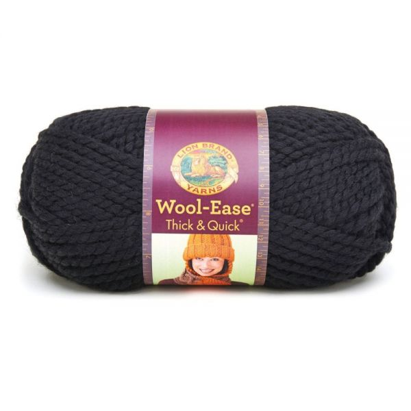 Lion Brand Wool-Ease Thick & Quick Yarn - Black