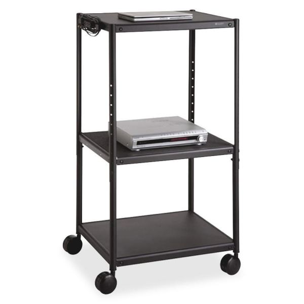 Quartet Adjustable Height A/V Cart
