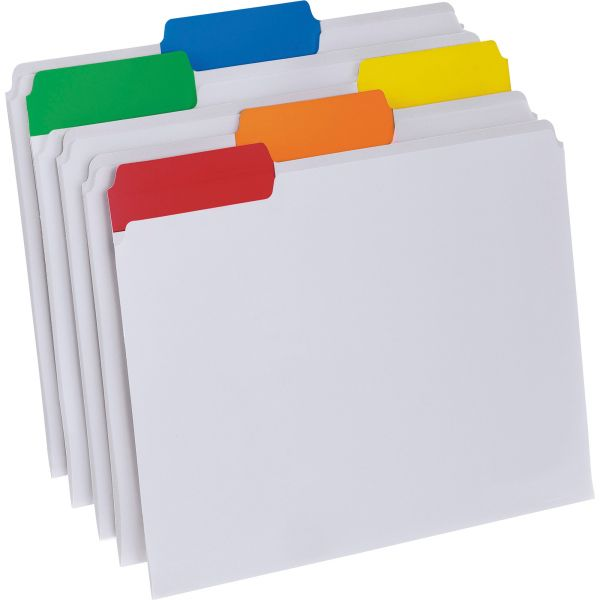 Pendaflex Poly File Folders, 1/3 Cut Top Tab, Letter, Clear, 25/Box