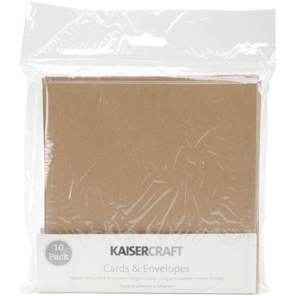 """Kaisercraft Square Cards & Envelopes 5.5""""X5.5"""" 10/Pkg"""