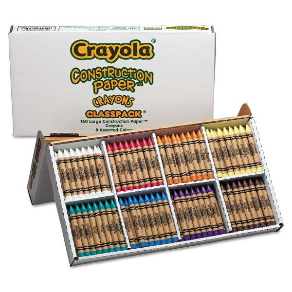 Crayola Construction Paper Crayons Classpack