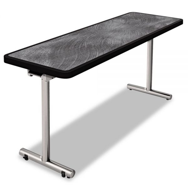 Nomad by Palmer Hamilton aero Mobile Folding Table, 60 x 24 x 29, Pewter