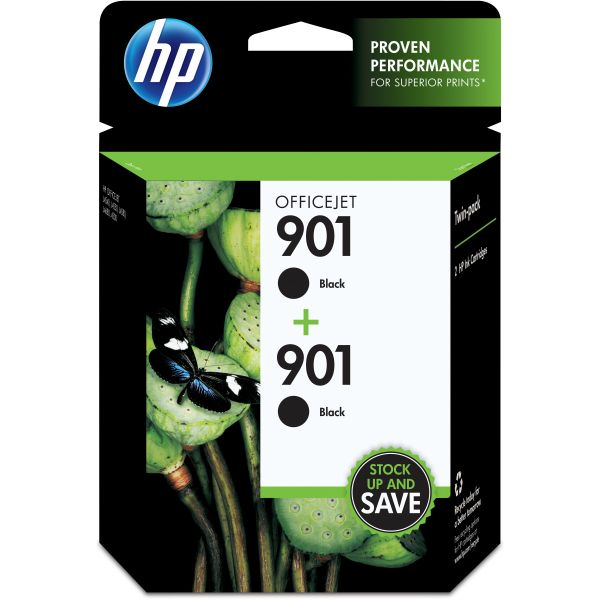 HP 901 Black Twinpack Ink Cartridges (CZ075FN)