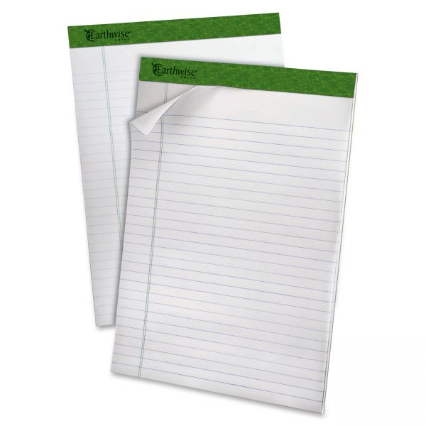 Earthwise Ampad Recycled Letter-Size White Legal Pads