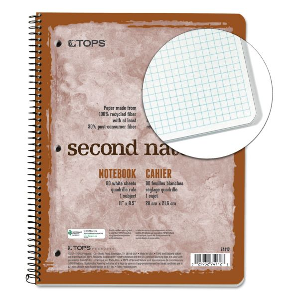 TOPS Second Nature Subject Wirebound Notebook