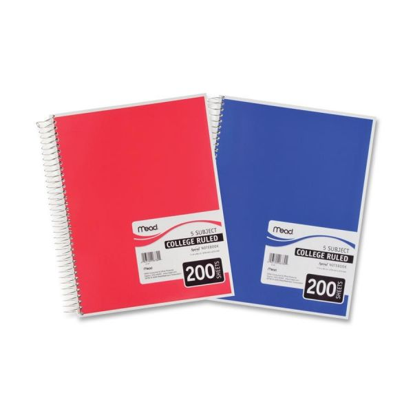 Mead Perforated 5-Subject Spiral Notebook