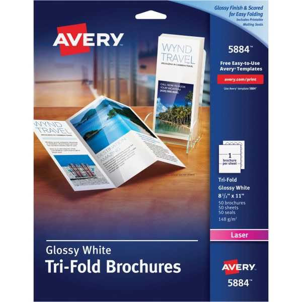 avery tri fold brochure paper ave5884 officesupply com
