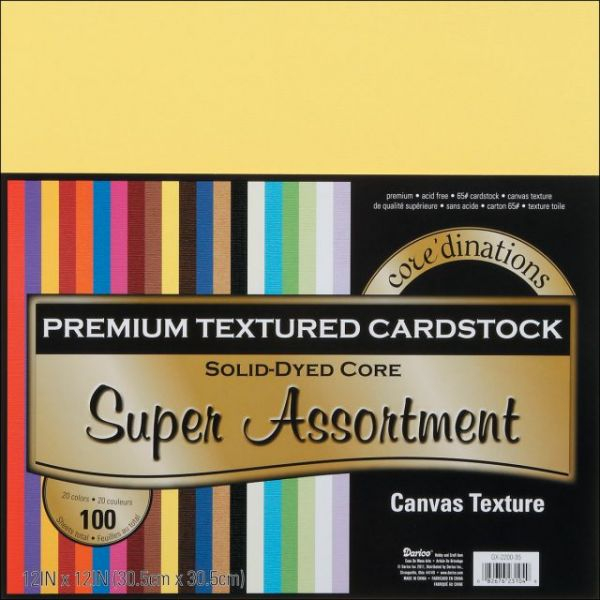 Core'dinations Premium Textured Super Assortment Cardstock