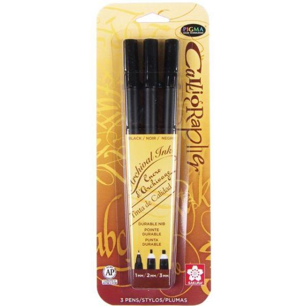 Pigma Calligrapher Pens 3/Pkg