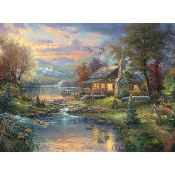 Candamar Thomas Kinkade Nature's Paradise Counted Cross Stitch Kit